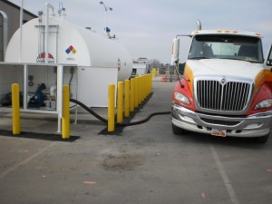 Truck Fueling at new JB Hunt facility Tait built
