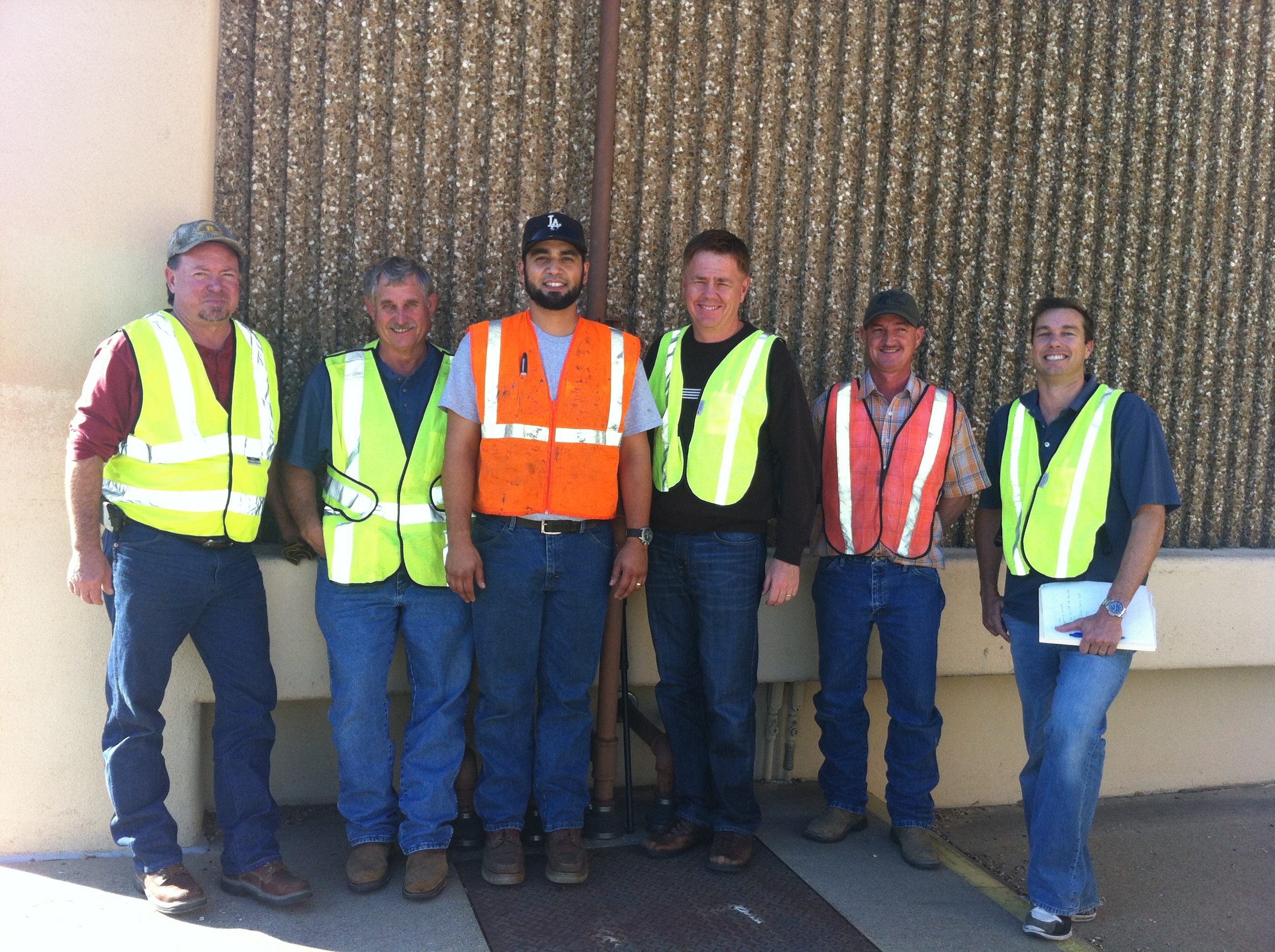 Some of the Texas Team at a UST site
