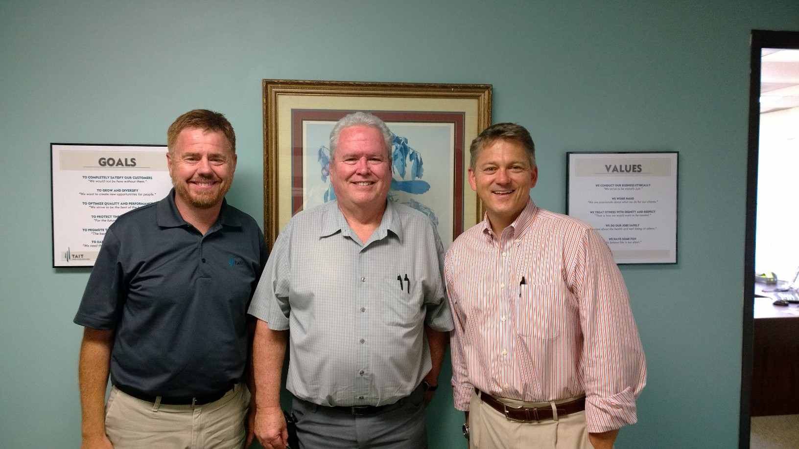 Andy Tait with Chuck Bentley and Tim Ericsen of Tait Environmental Services
