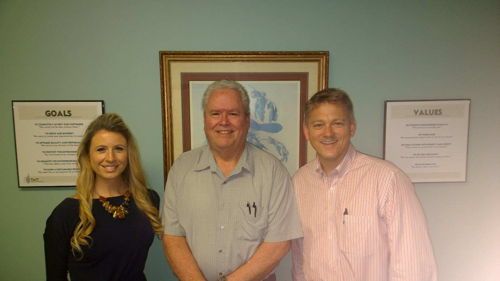 Melanie Nelson, Chuck Bentley and Tim Ericsen of Tait Environmental Services