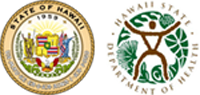 Hawaii Department of Health and State Seal logos