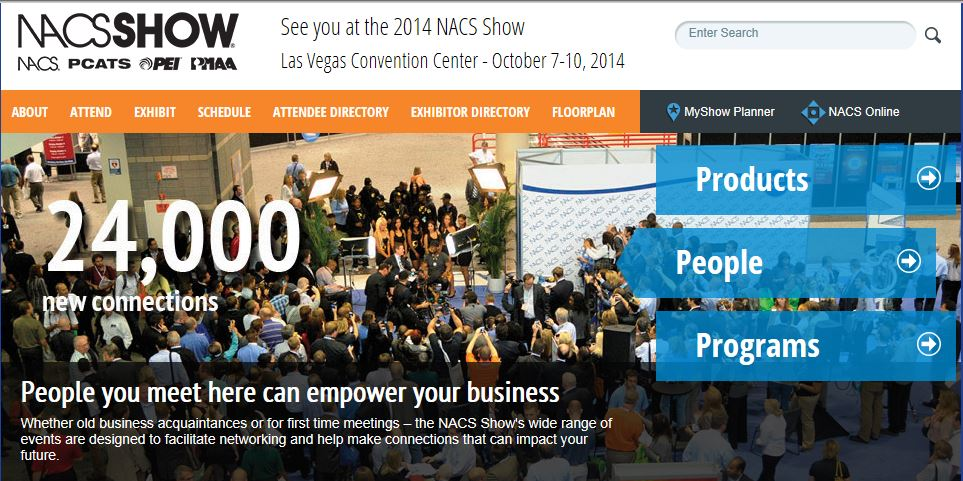 2014 NACS Show image of 24,000 attendees to network with in the fueling industry